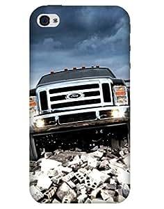 Bikzone Back Cover For Apple Iphone 4/4S (Multicolor)