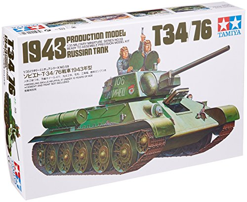 Tamiya Models Russian T-34/76 Tank (1 35 Russian Tank compare prices)
