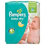 Pampers Baby Dry Windeln, Gr.4+ (Maxi...