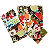 SnackTaxi Reusable Sandwich-sack Bag, Snack-sack Bag and Twice-as-nice Napkin Bite Me Set.