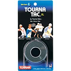 Buy Unique Sports Tourna Tac Overgrip Pack of 3 (Black, X-Large) by Unique Sports