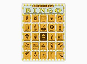 Kids' Night Out Bingo by Knock Knock