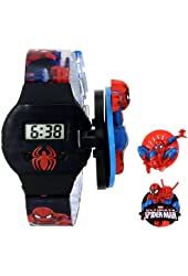 Marvel Kids' SPM125 Spiderman Watch with Patterned Plastic Band