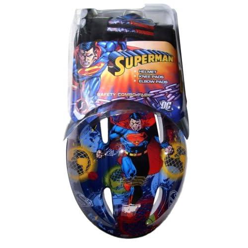 Amazon.com : Superman Child Bike Helmet and Pads Combo Pack : Sports