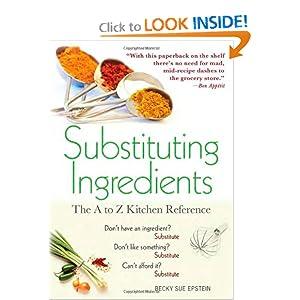 Substituting Ingredients - Becky Sue Epstein