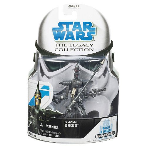 Star Wars - 2008 - Hasbro - Legacy Collection - IG Lancer Droid Figure - BD No. 13 - Includes Droid Factory Part for R4-J1 Droid - New - Limited Edition - Collectible