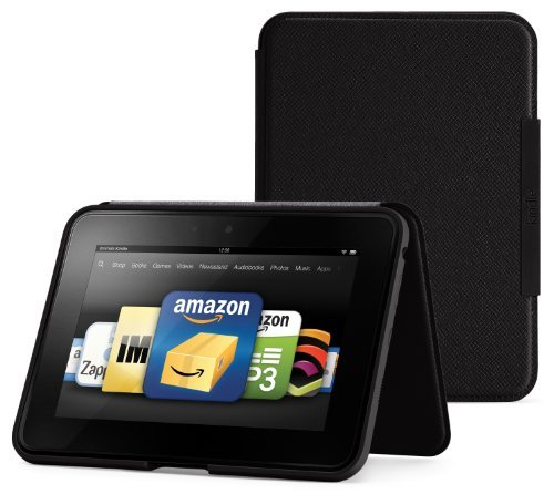 Amazon Kindle Fire HD Standing Leather Cover, Onyx Black (will only fit Kindle Fire HD)
