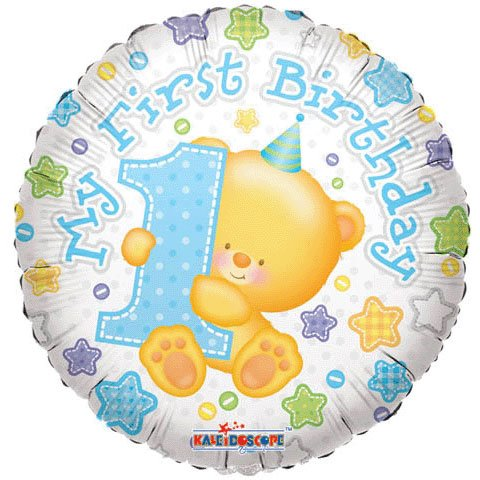 18 Inch Sv First Birthday Boy Balloon