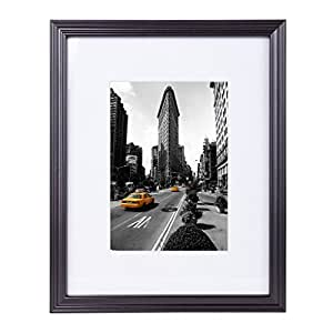 8x10 inch matted black wood picture frame - Picture frame without glass ...