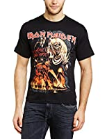 Iron Maiden Men Number of the Beast Graphic Short Sleeve T-Shirt