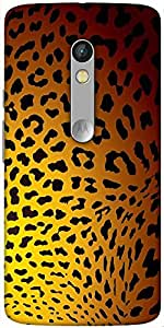 Snoogg Leopard Print Designer Protective Back Case Cover For Motorola Moto X Play