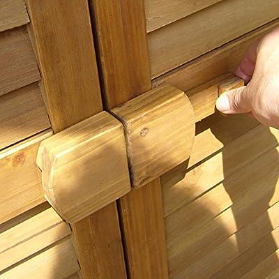 Aufbewahrungsschrank 95x87x46,5 honig von LECO bei Gartenmöbel von Du und Dein Garten