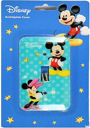 Disney Mickey Mouse Switch Plate Cover (Mickey and Minnie)