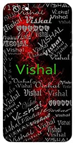 Vishal (Huge, Broad, Great) Name & Sign Printed All over customize & Personalized!! Protective back cover for your Smart Phone : Moto G2 ( 2nd Gen )