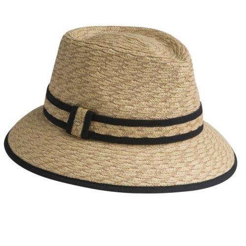 Betmar Scallop Braid Fedora Hat