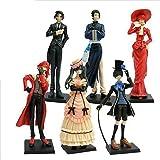 Japan Anime Black Butler Kuroshitsuji Action Figure ceil Set of 6