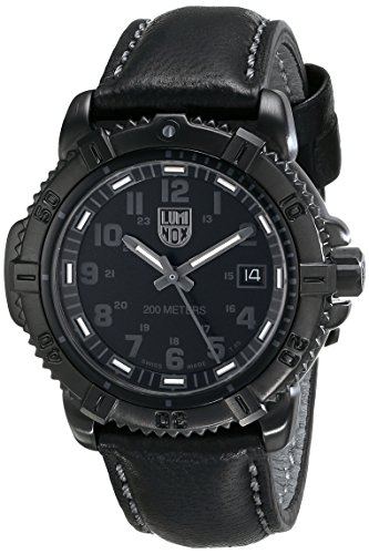 Luminox 7251-BO 38mm Ion Plated Stainless Steel Case Black Leather Synthetic Sapphire Women's Watch