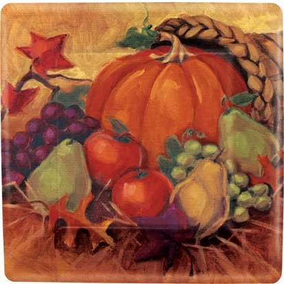 Thanksgiving Fall Harvest Still Life Banquet Plates Celebrations Parties 8 Pk