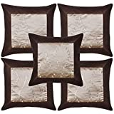 Handmade Indian Traditional Brocade Patchwork Silk Cushion Cover Home Decor 16 X 16 Inches