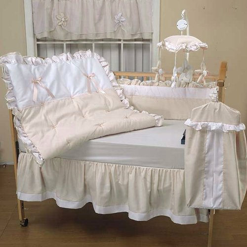 Baby Doll Bedding Regal Pique Crib Bedding Set Ivory