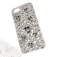 EVER FAITH Halloween Skull Hardshell Case for Iphone 5 Clear Austrian Crystal A13576-1 by Ever Faith