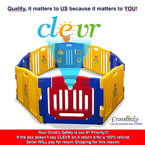 New Clevr Baby Kids Safety Playpen 8 Panel Play Center Home Indoor Outdoor Pen
