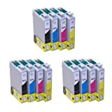 12x Inks - 3x Full Sets of T1295 Compatible Ink Cartridges (with chip) for Epson Stylus Office B42WD BX305F BX305FW BX305FW Plus BX320FW BX525WD BX535WD BX625FWD BX630FW BX635FWD BX925FWD BX935FWD Epson Stylus SX235W SX420W SX425W SX435W SX445W SX525WD S