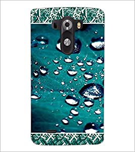PrintDhaba Droplets D-4689 Back Case Cover for LG G3 (Multi-Coloured)