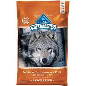 Blue Buffalo Wilderness Chicken Recipe Dry Food for Large Breed Dogs, 24-Pound