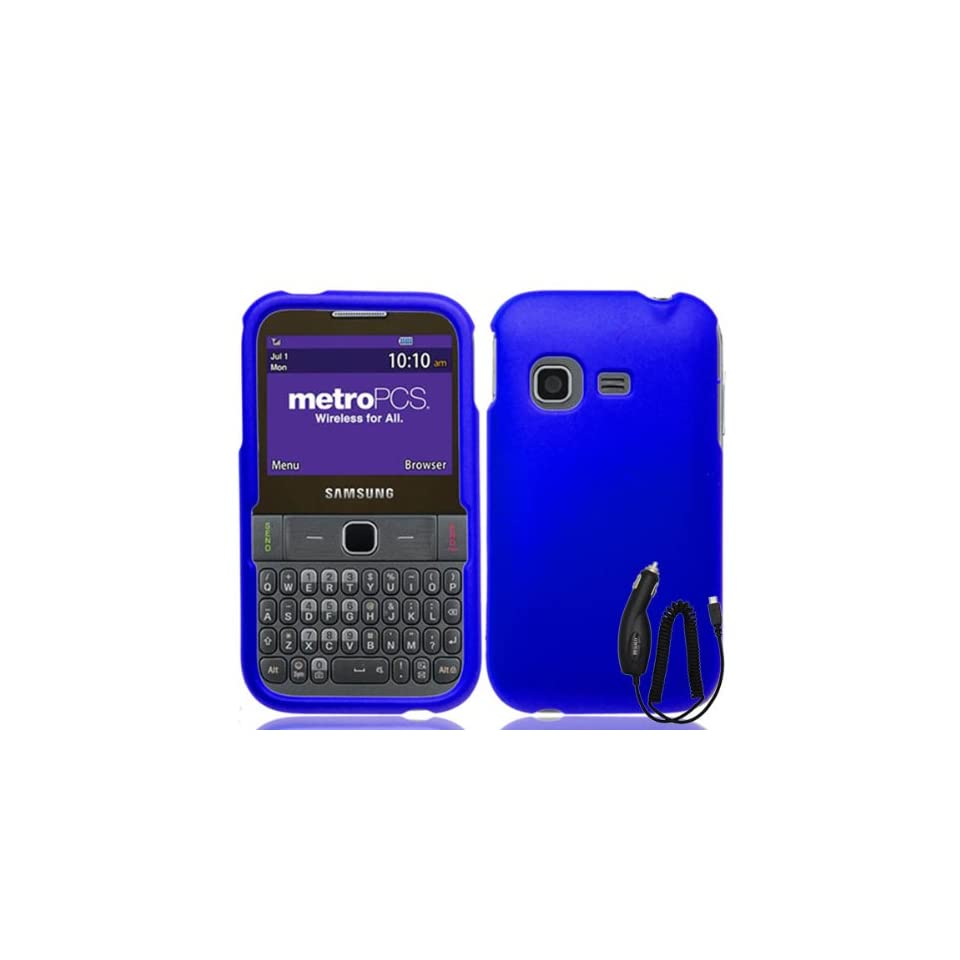 SAMSUNG FREEFORM M T189N BLUE TPU RUBBER SKIN COVER SOFT GEL CASE + FREE CAR CHARGER from [ACCESSORY ARENA]