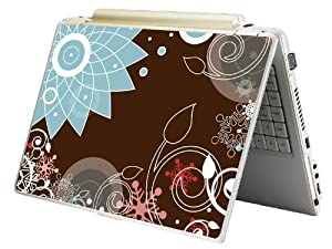 """Bundle Monster MINI NETBOOK Laptop Notebook Skin Sticker Cover Art Decal - 7"""" 8"""" 9"""" 10"""" - Fit HP Dell Asus Acer Eee Compaq MSI - Brown Chaos"""