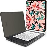 IGadgitz Designer Collection Butterfly Pattern Slim PU Leather Shell Case Cover for New Amazon Kindle