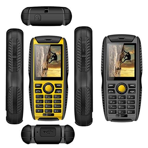 PROOFINGS Cell Phone ,Elevin(TM) Hotsale! New Kenxinda W3 Waterproof Shockproof Dustproof Dual SIM Cards Cell Phone (Yellow)