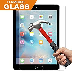 iPad Air / Air 2 Screen Protector Glass, InaRock 0.26mm Tempered Glass Screen Protector for iPad Air/iPad Air 2 / New Apple iPad Air with Retina display,Premium Crystal Clear,Industry,High 9H Hardness