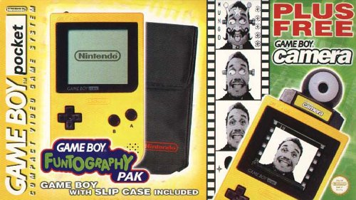 Yellow Gameboy and Slip Case and Free Camera