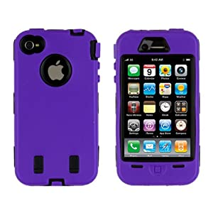 Body Armor for iPhone 4 / 4th Generation - Purple & Black