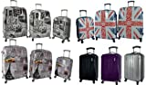 5 Cities® Lightweight Hard shell Travel Luggage Suitcase- 4 Wheel Spinner Trolley Bag 21