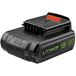 BLACK & DECKER 18 Volt Lithium Cordless Tool Battery LB018-OPE