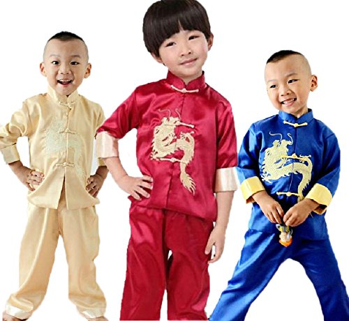 Fashion Kung Fu Sets Kids Tang Suits Martial Art Clothes For Boys