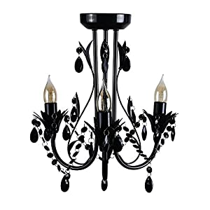 Contemporary Shabby Chic 3 Way Ceiling Light Chandelier Fitting With Decorative Acrylic Jewel Beads from MiniSun