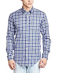 Gant Men's Casual Shirt (8907163400451_GMSGB12_40_Blue and White)