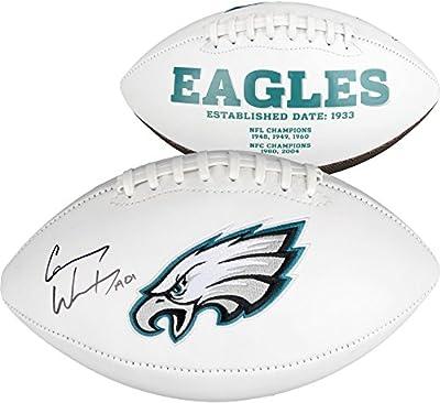 Carson Wentz Philadelphia Eagles Autographed White Panel Football - Fanatics Authentic Certified - Autographed Footballs
