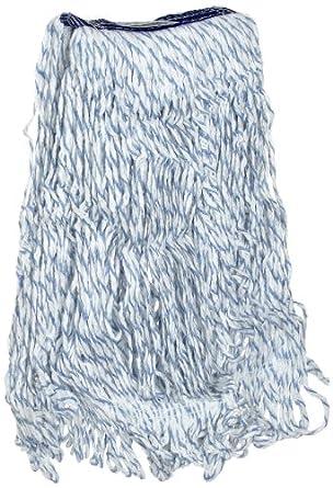 "Rubbermaid Super Stitch Finish Mop, 1"" Blue Headband, White"