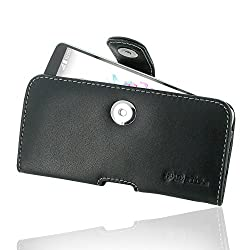 LG G3 A Leather Case / Cover Protective Carrying Phone Case / Cover (Handmade Genuine Leather) - Horizontal Pouch Case (Black) by Pdair