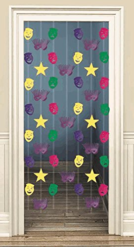 Mardi Gras Cascade Doorway Curtain 65in - 1