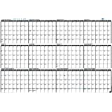 "- IN-FULL-VIEW - Large Wall Calendar - Yearly 2016 Planner Horizontal Laminated - Wet Erase 24"" x 36"" (2436-16h)"