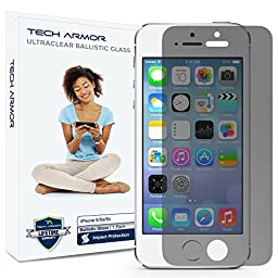 Tech Armor 2-Way Privacy Ballistic Glass Screen Protector for iPhone 5/5c/5s/SE