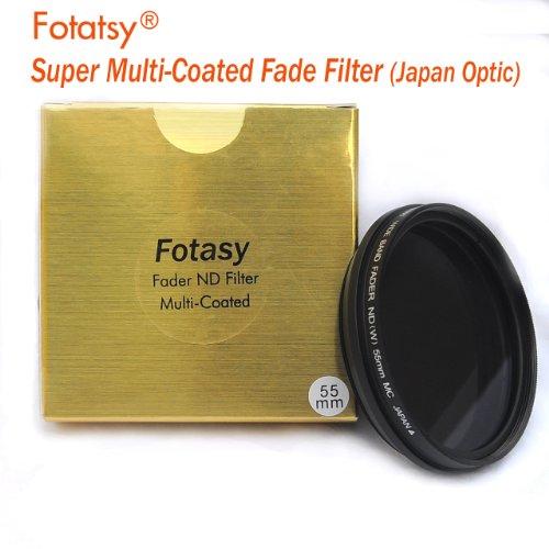 RainbowImaging 55mm Adjustable Fader ND Filter Neutral Density (ND2 - ND400) Multi-Coated Japan