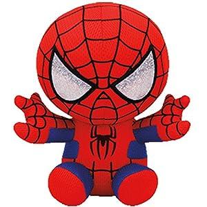 Set of 4 Ty Marvel Beanie Baby Spider-Man, Hulk, Iron Man & Captain America