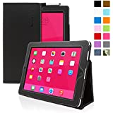 Snugg® iPad 2 Case - Smart Cover with Flip Stand & Lifetime Guarantee (Black Leather) for Apple iPad 2